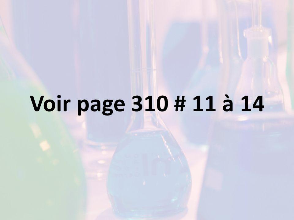 Voir page 310 # 11 à 14