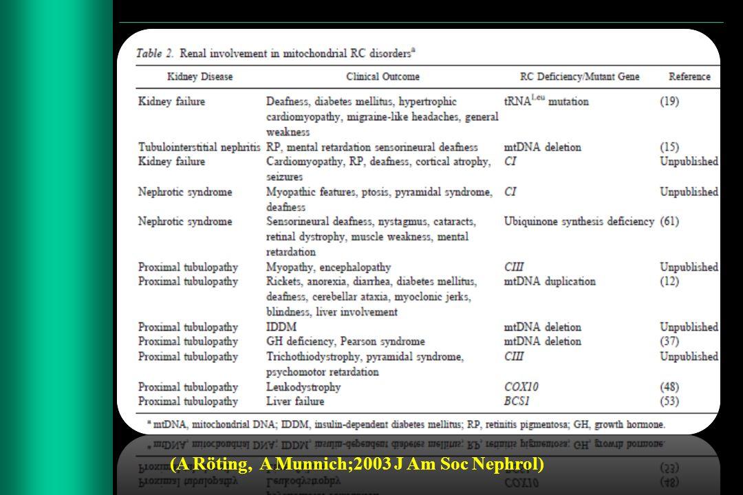 (A Röting, A Munnich;2003 J Am Soc Nephrol)