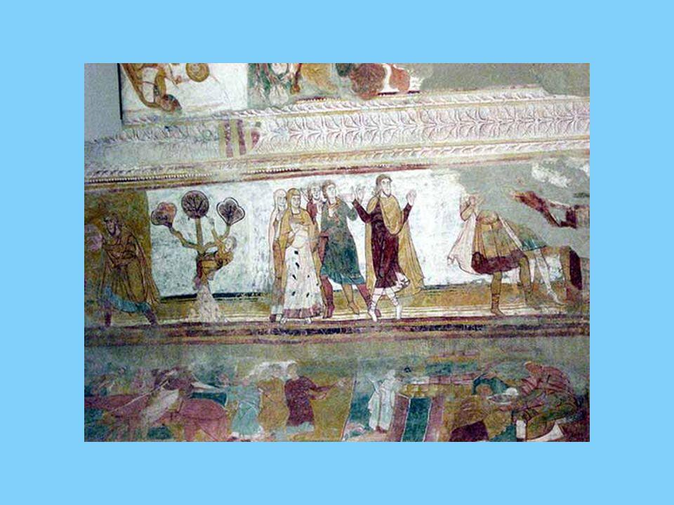 Les peintures représentent des scènes, surtout de lAncien Testament.