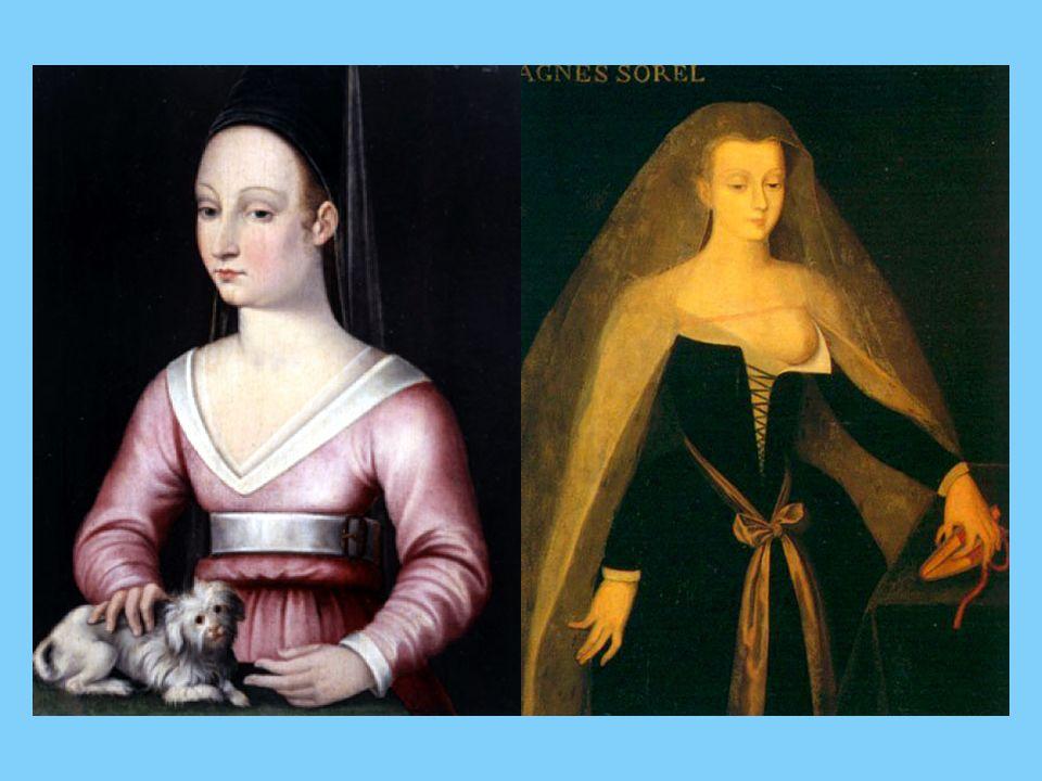 Vers la même époque, Charles VII rencontra une jeune fille d une étonnante beauté : Agnès Sorel, qui deviendra la première maîtresse officielle dont parle l histoire.
