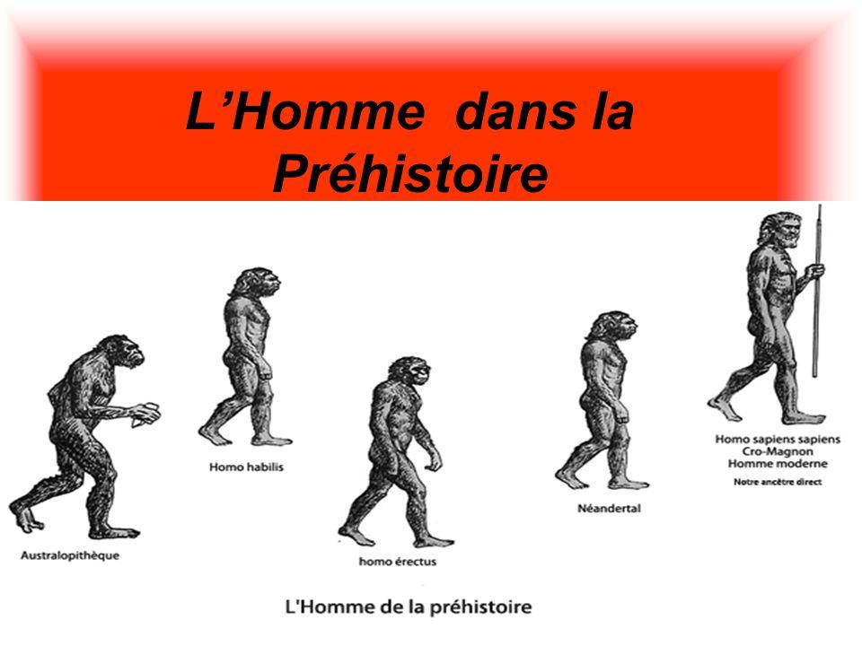 LHomme dans la Préhistoire Le paléolithique (les nomades) et Le Néolithique (qui étaient sédentaire)