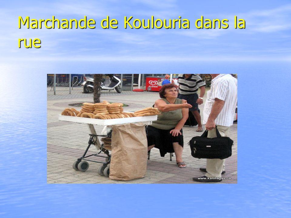 Marchande de Koulouria dans la rue