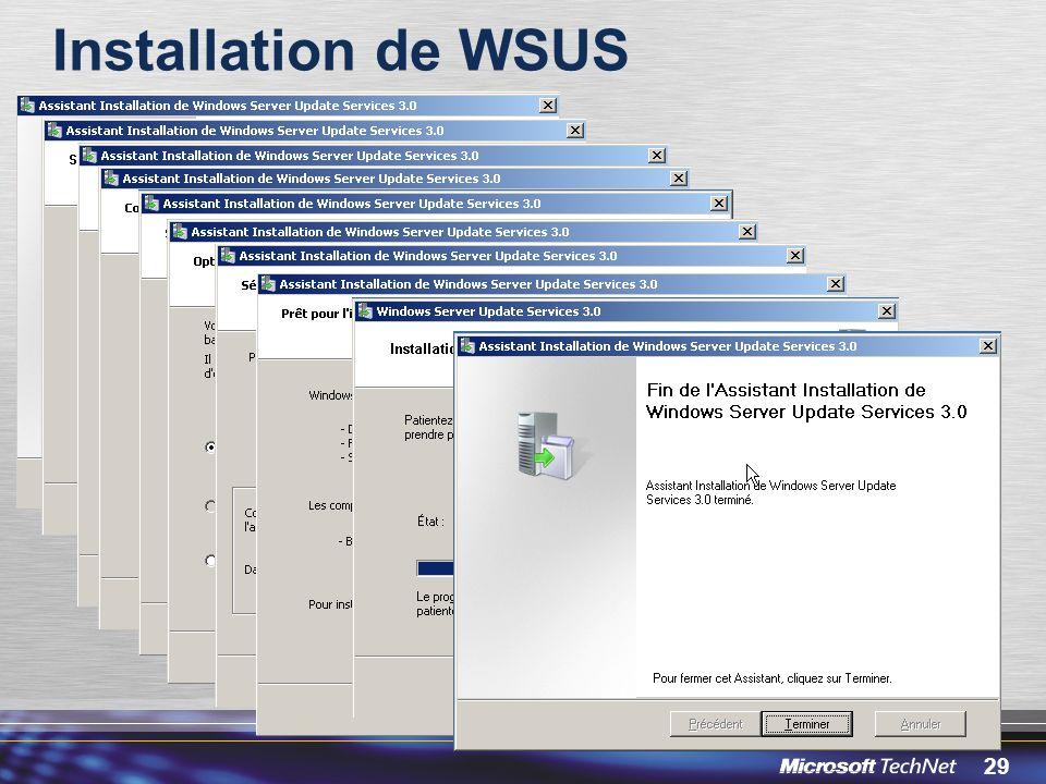29 Installation de WSUS