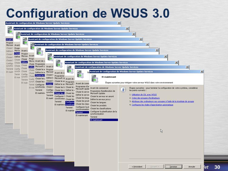 30 Configuration de WSUS 3.0