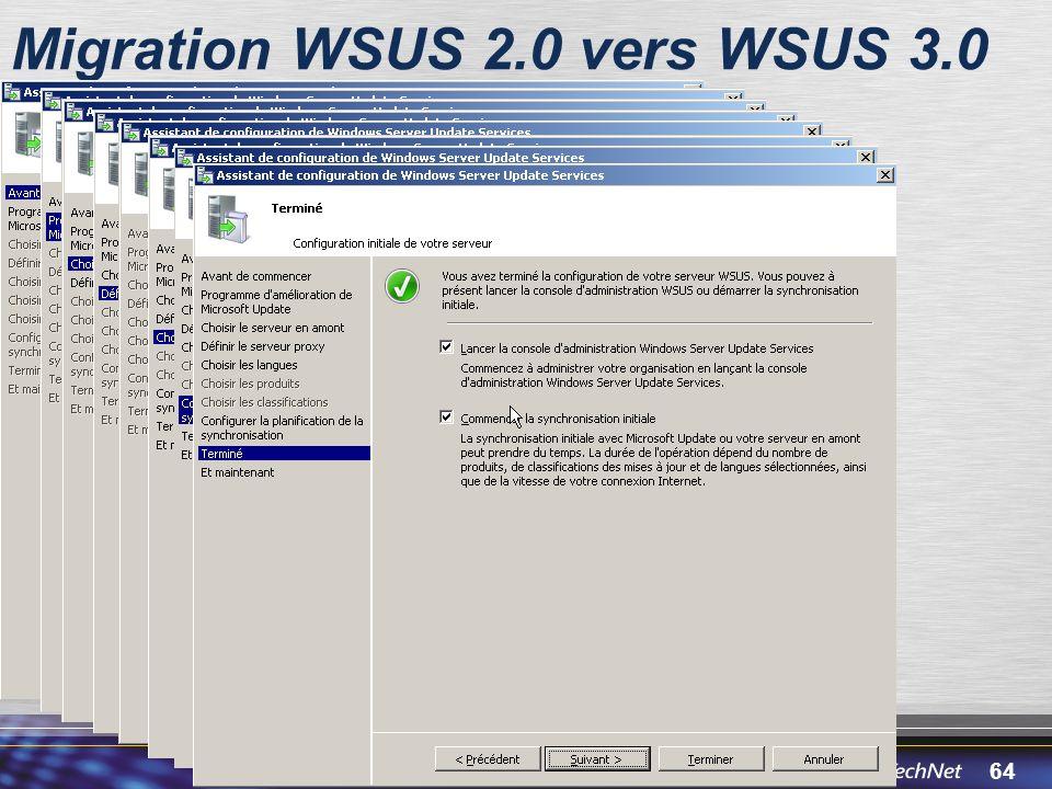 64 Migration WSUS 2.0 vers WSUS 3.0