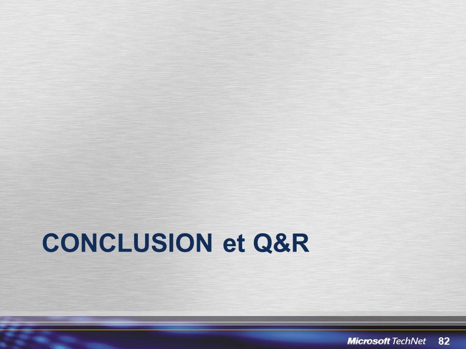 82 CONCLUSION et Q&R