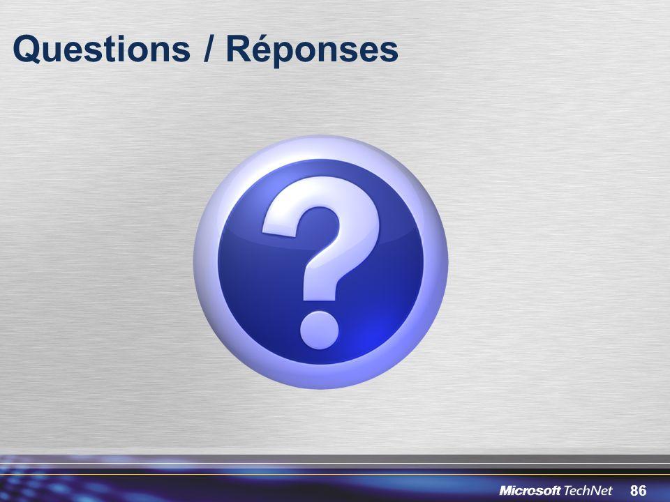 86 Questions / Réponses