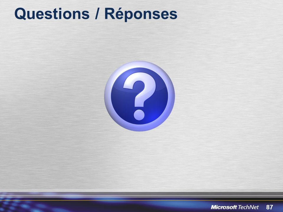 87 Questions / Réponses