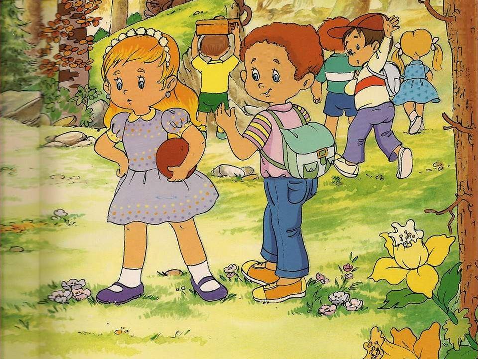 Gaétan passe la journée dans la forêt avec ses amis.