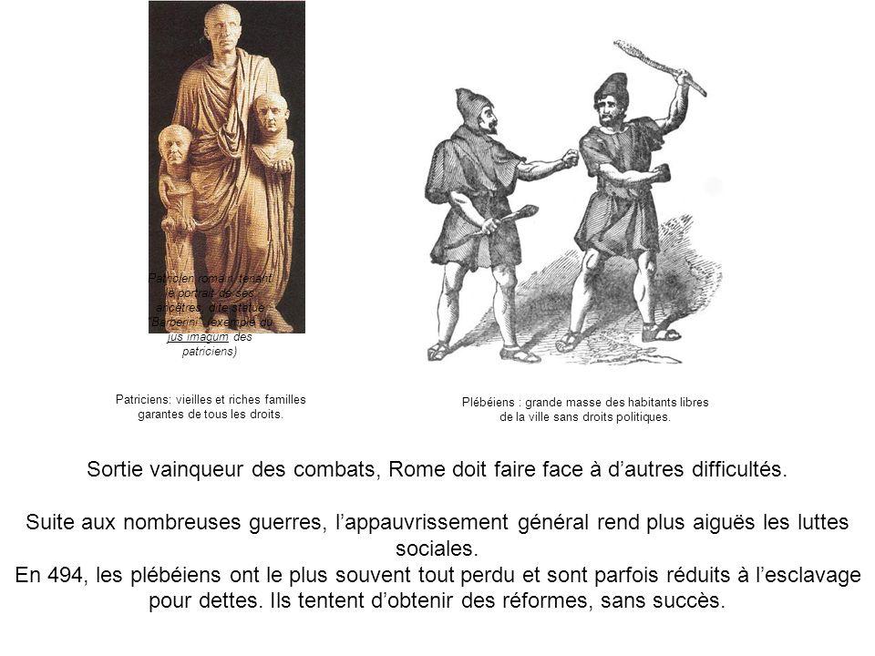 Patricien romain tenant le portrait de ses ancêtres, dite statue