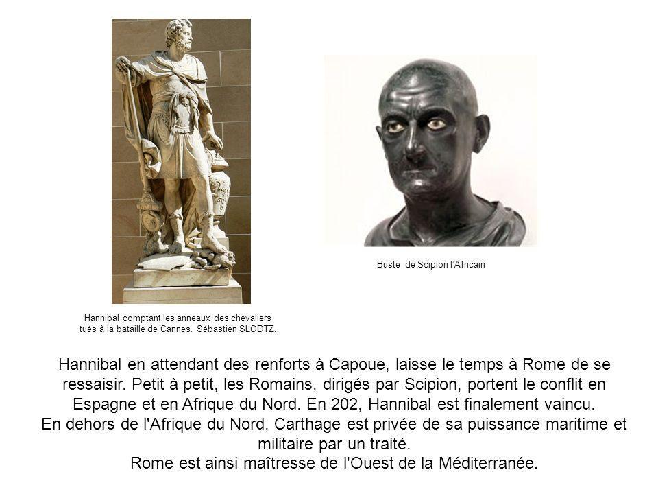 Hannibal en attendant des renforts à Capoue, laisse le temps à Rome de se ressaisir. Petit à petit, les Romains, dirigés par Scipion, portent le confl