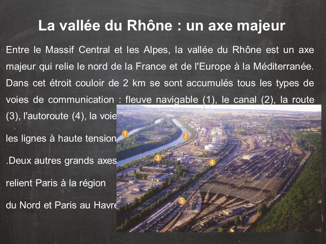 Entre le Massif Central et les Alpes, la vallée du Rhône est un axe majeur qui relie le nord de la France et de l'Europe à la Méditerranée. Dans cet é