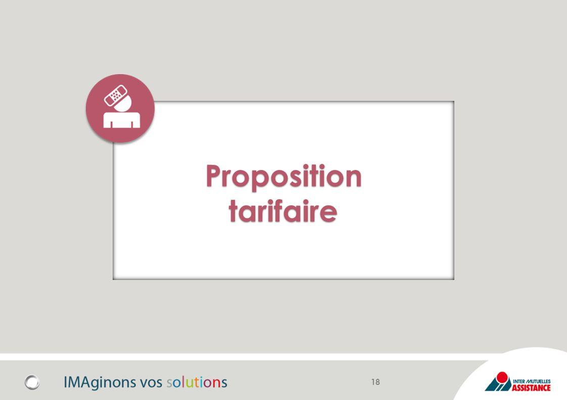 Proposition tarifaire 18