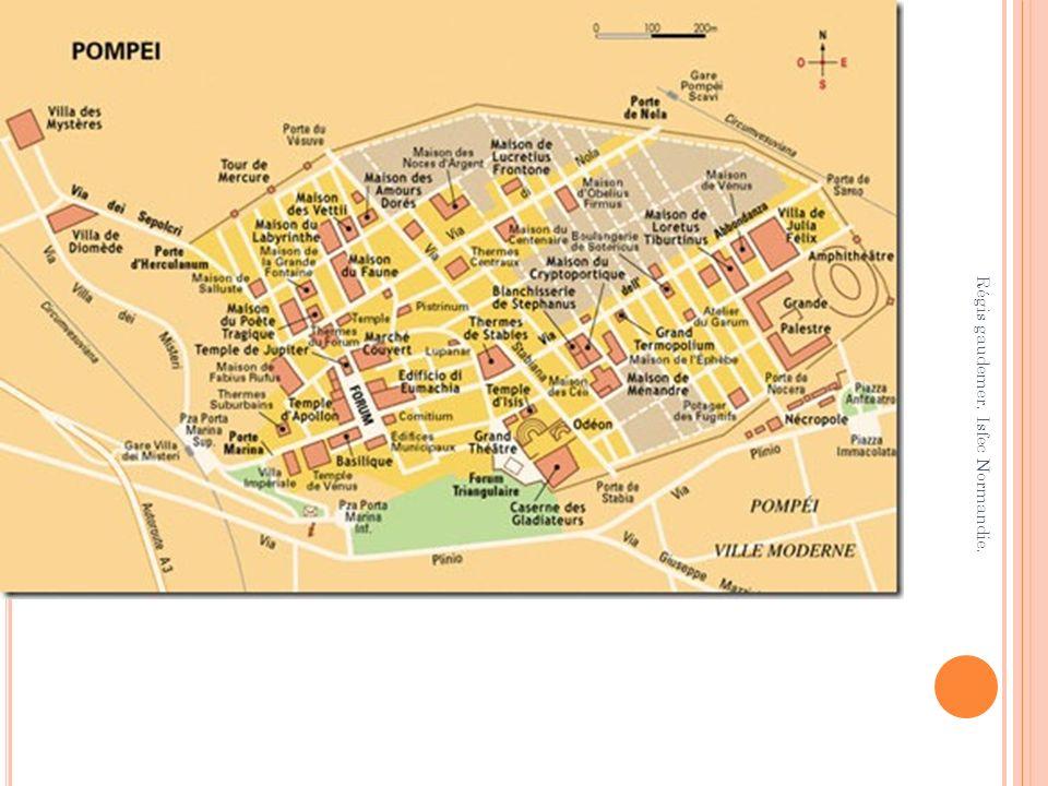 Timgad (Algérie), ville romaine.On remarque lorthogonalité de la ville.