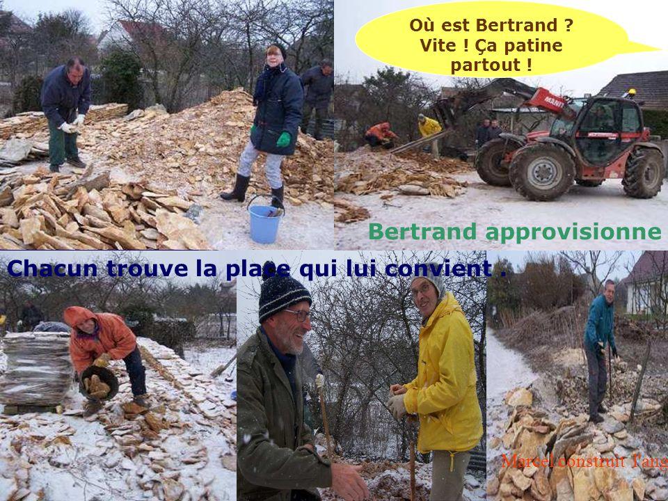 Marcel construit l angle Marcel fait langle Bertrand approvisionne Où est Bertrand .