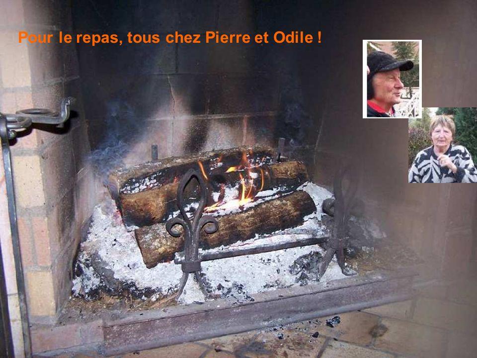 Pour le repas, tous chez Pierre et Odile !