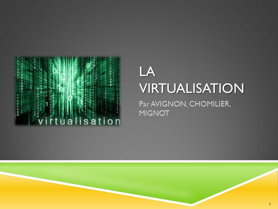 SOMMAIRE Virtual Box Virtual PC VMware FUSION CROSSOVER Solution Payante : VMware Workstation 2