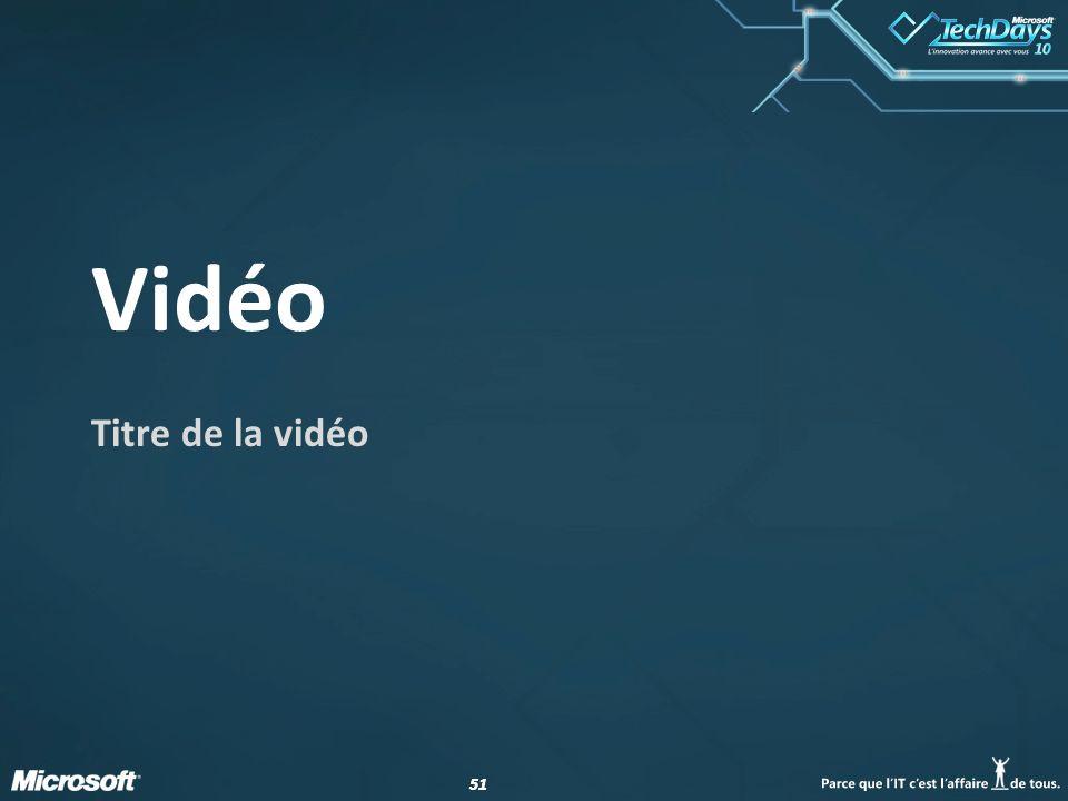 51 Vidéo Titre de la vidéo
