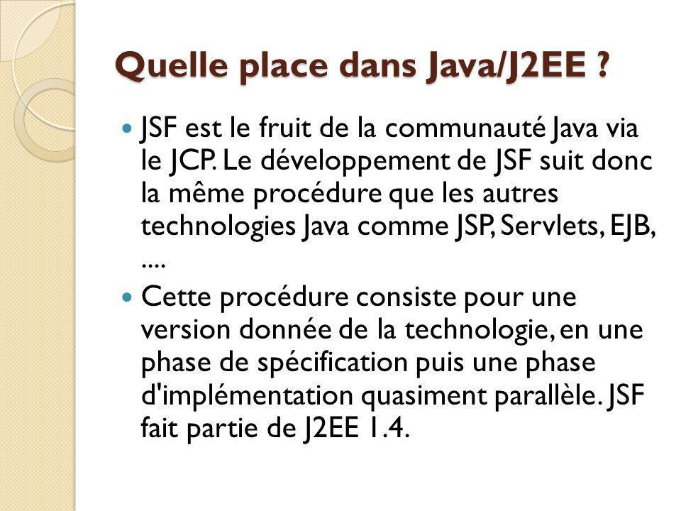 JSF est le fruit de la communauté Java via le JCP.