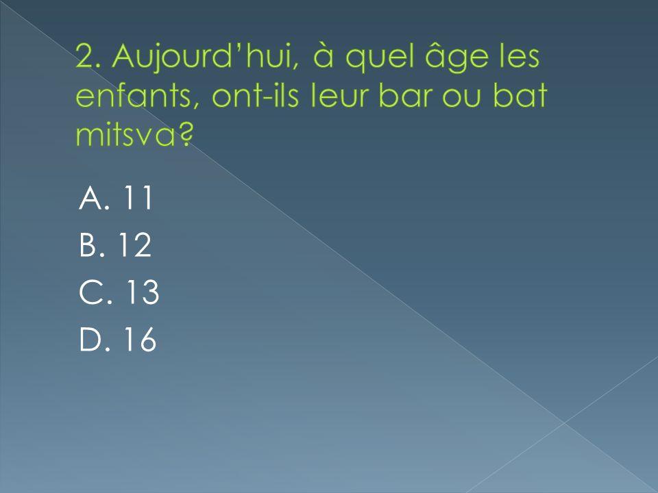 A. 11 B. 12 C. 13 D. 16