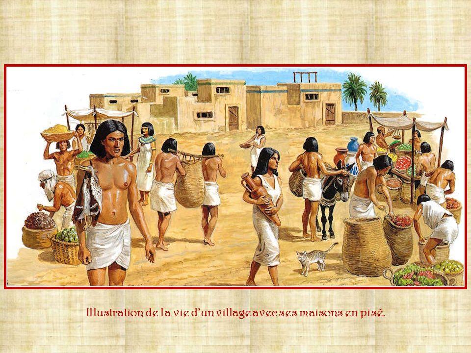 La vie quotidienne des Egyptiens est bien structurée. Ils habitent dans les villes et villages où se déroule lactivité économique. Ils vivent en commu