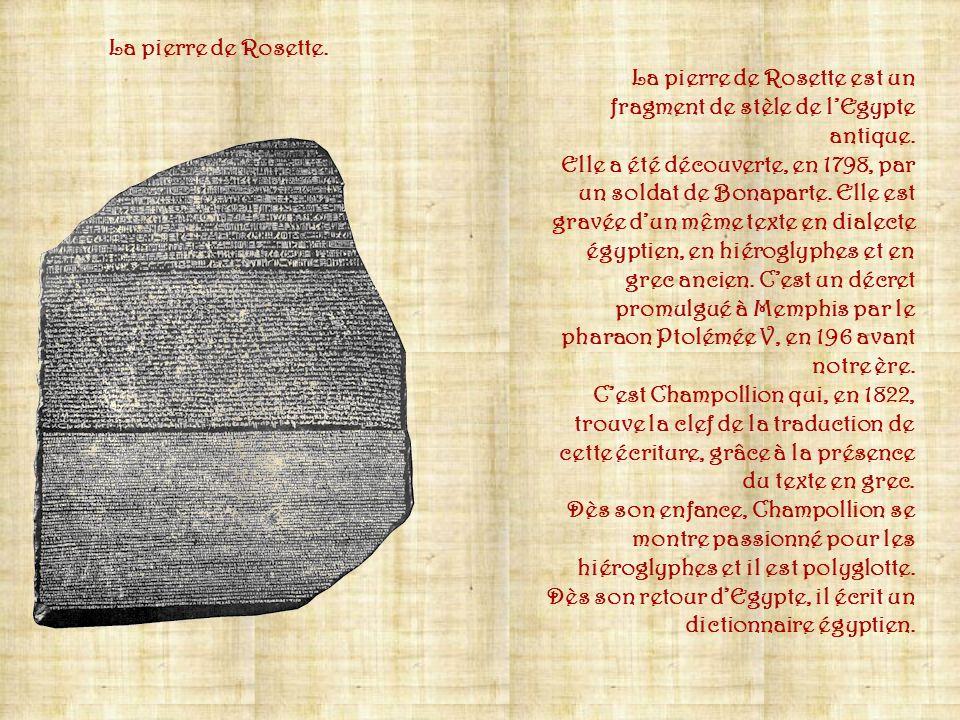 Ci-contre, des signes représentant des idéogrammes qui, assemblés, peuvent donner des phrases complètes : 1) Œil - 2) pain - 3) vautour - 4) donner. C