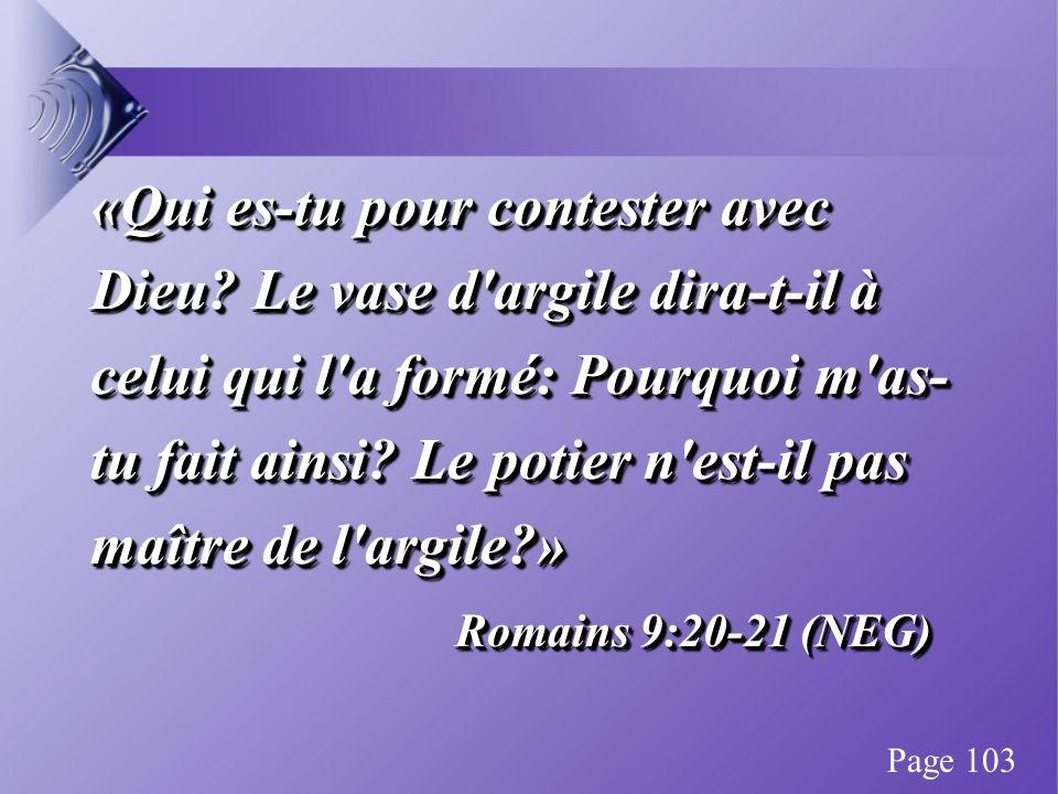 «Qui es-tu pour contester avec Dieu.