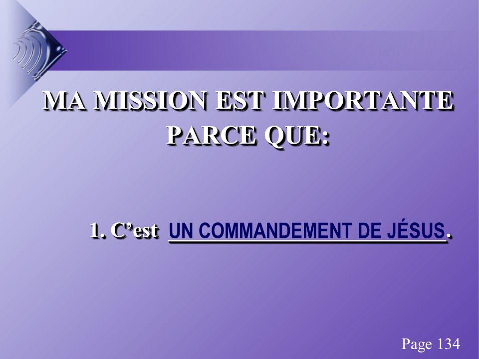 MA MISSION EST IMPORTANTE PARCE QUE: 1. Cest __________________________.