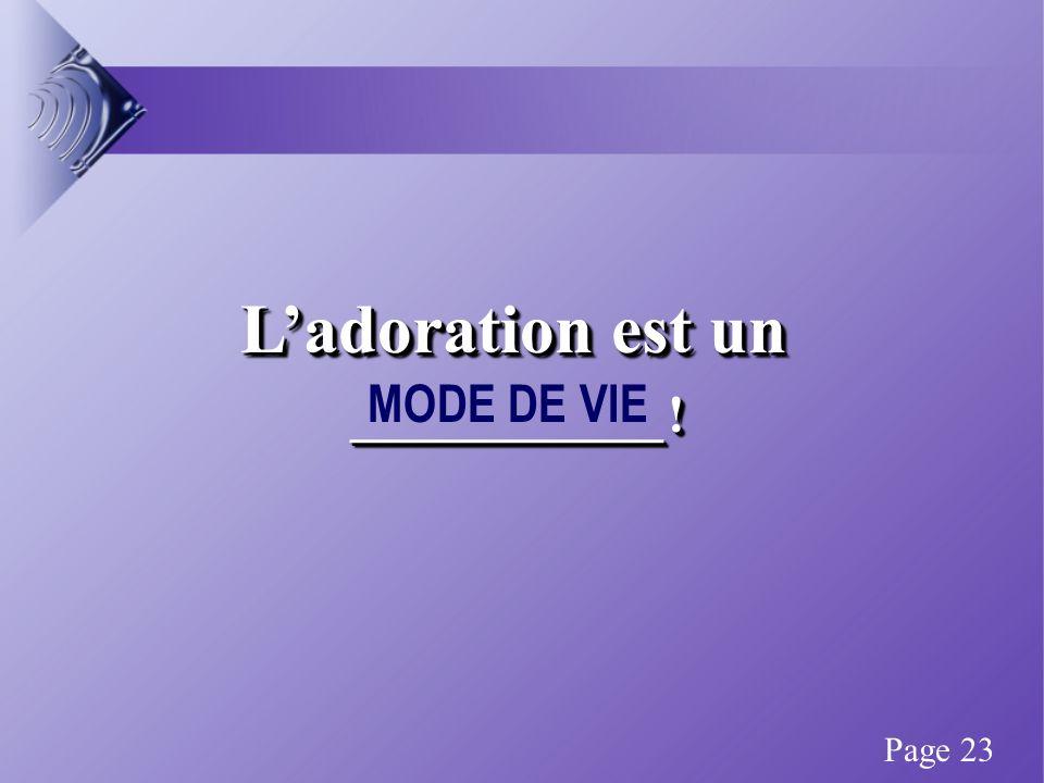 Ladoration est un ____________. ____________. Ladoration est un ____________.