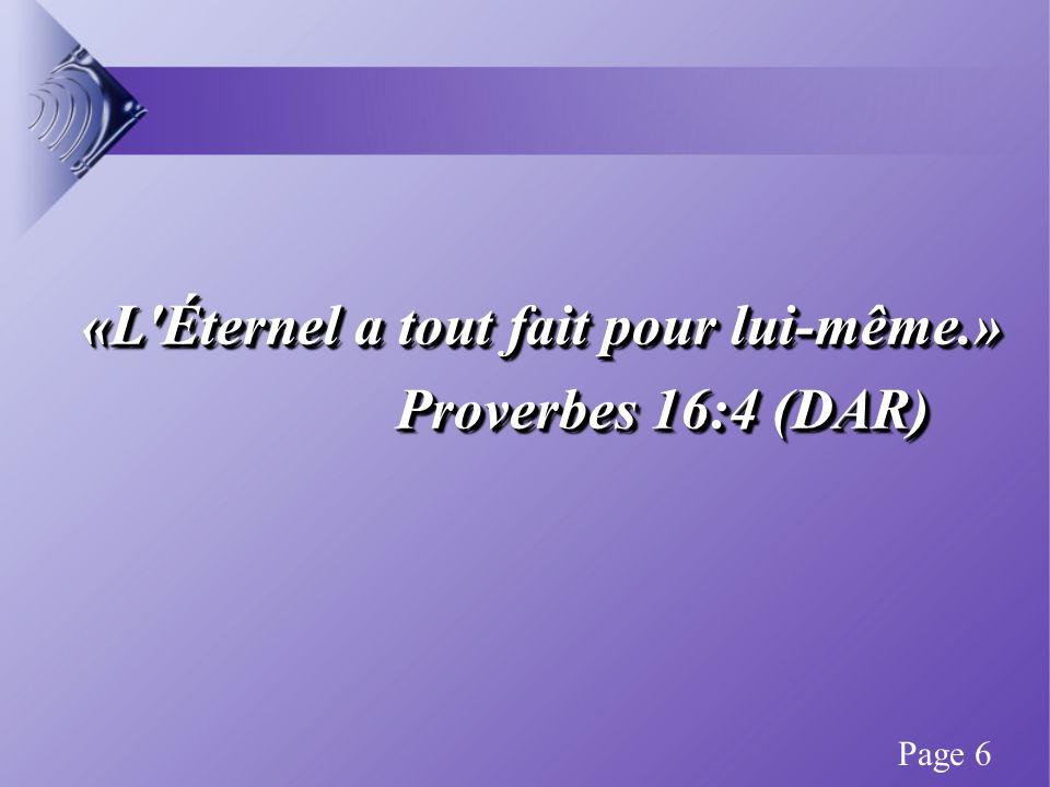«Les sacrifices qui sont agréables à Dieu, c est un esprit brisé...» Psaume 51:17 (NEG) «Les sacrifices qui sont agréables à Dieu, c est un esprit brisé...» Psaume 51:17 (NEG) Page 37