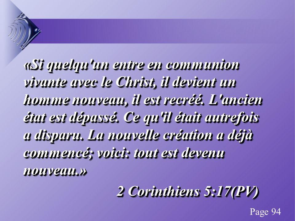 «Si quelqu un entre en communion vivante avec le Christ, il devient un homme nouveau, il est recréé.