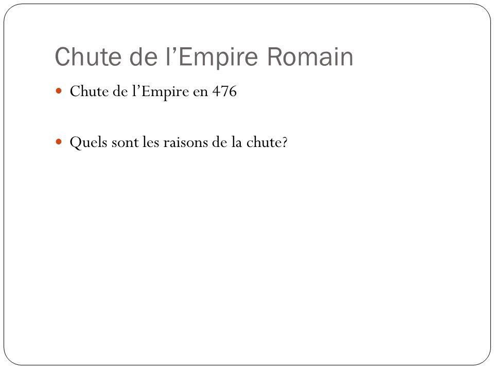 Chute de lEmpire Romain Chute de lEmpire en 476 Quels sont les raisons de la chute?