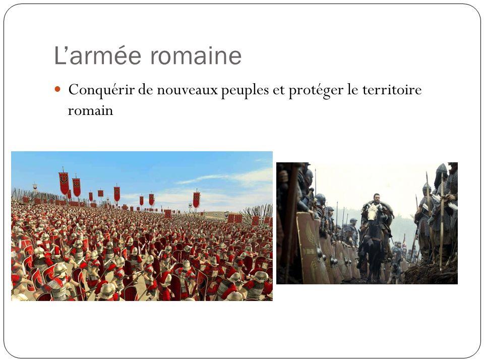 Larmée romaine Conquérir de nouveaux peuples et protéger le territoire romain
