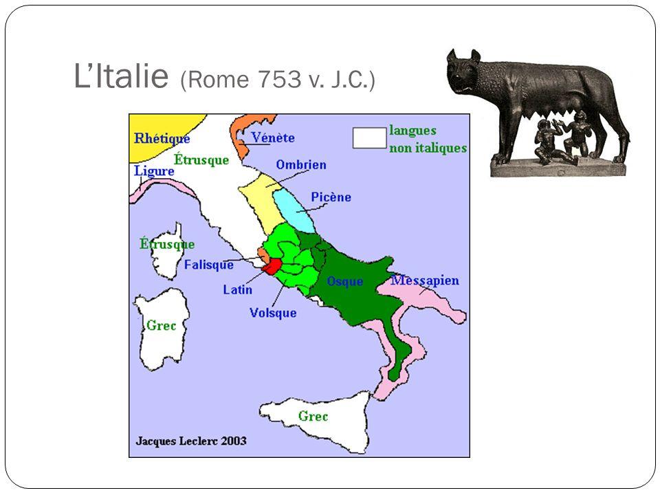 LItalie (Rome 753 v. J.C.)