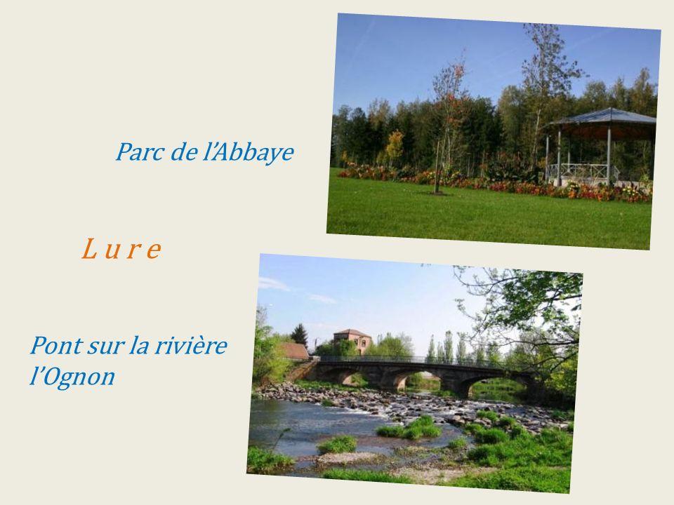 . Parc de lAbbaye... L u r e...Pont sur la rivière.lOgnon
