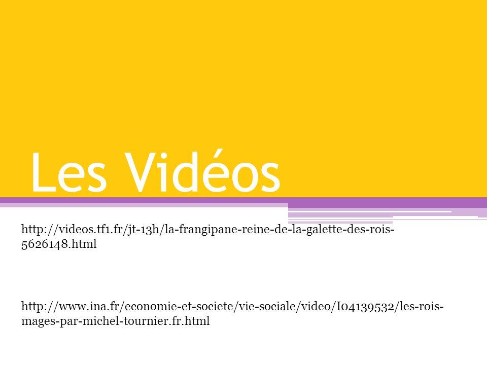 Les Vidéos http://www.ina.fr/economie-et-societe/vie-sociale/video/I04139532/les-rois- mages-par-michel-tournier.fr.html http://videos.tf1.fr/jt-13h/l