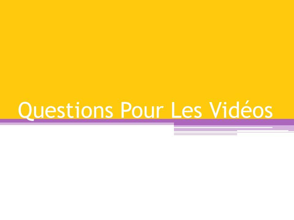 Questions Pour Les Vidéos