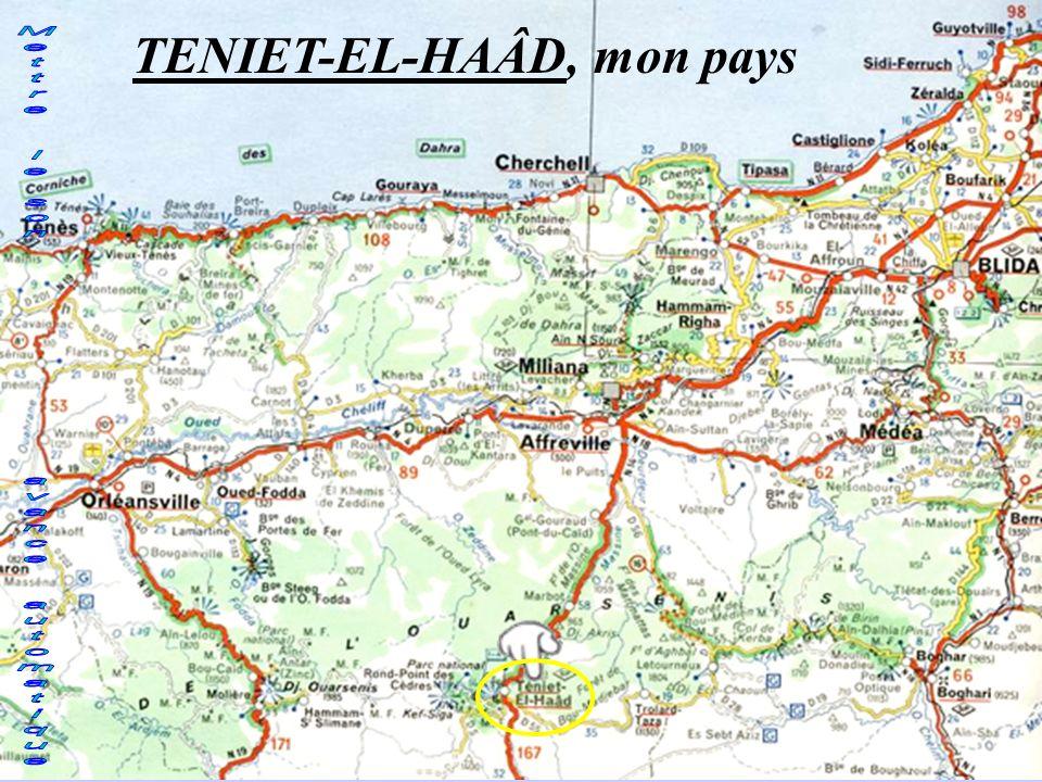 TENIET-EL-HAÂD, mon pays