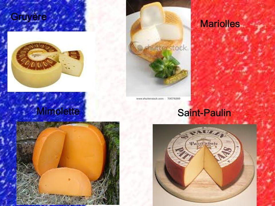 Gruyère Mariolles Mimolette Saint-Paulin