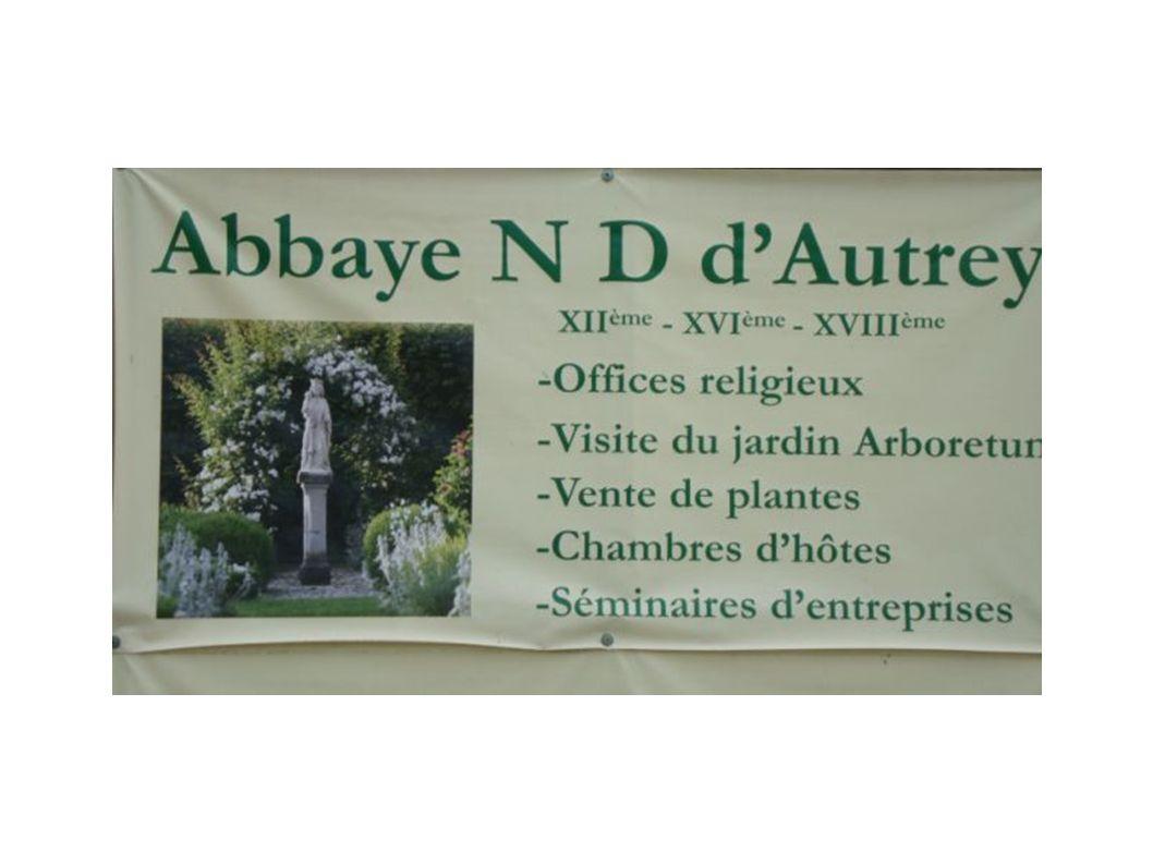 Porte ouverte à l abbaye Notre- Dame d Autrey La Communauté des Béatitudes accueille les visiteurs dans les jardins de l abbaye dont la construction remonte à l an 1150.