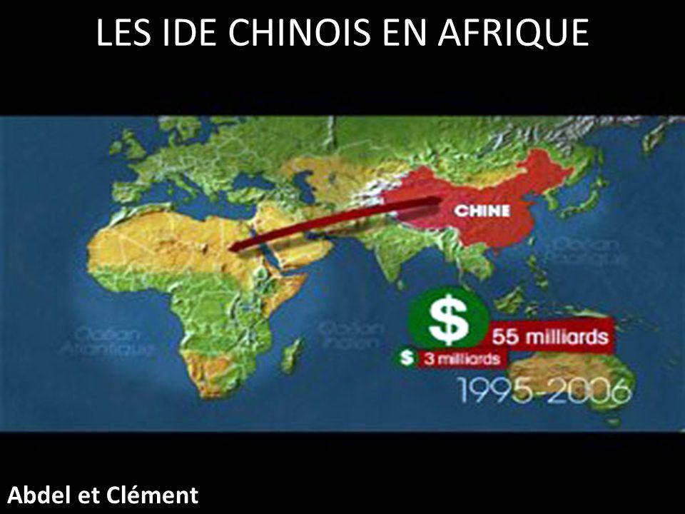 PLAN DE LEXPOSE Introduction La stratégie chinoise en matière dIDE Importance des IDE et du commerce sino- africain Difficultés et Externalités Conclusion