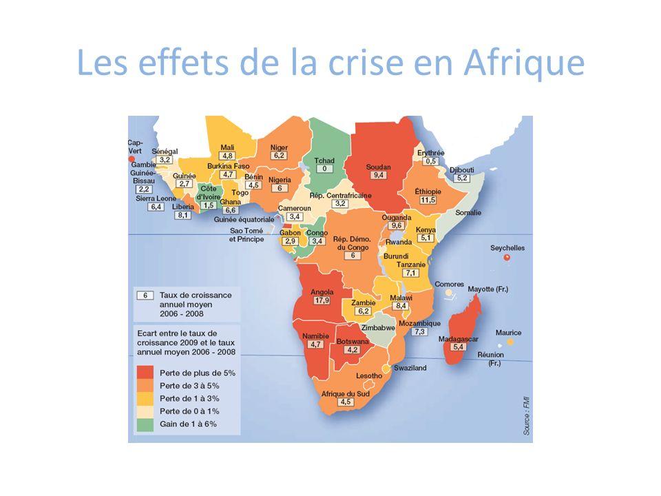 Les effets de la crise en Afrique