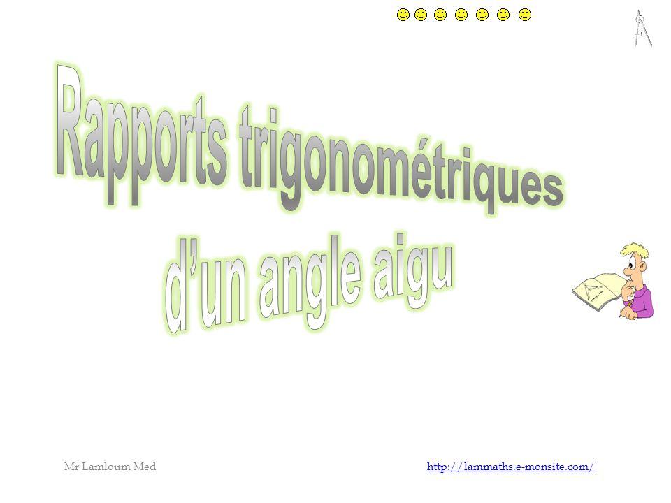 ABC un triangle rectangle en A Le côté ne contenant pas langle droit est dit ……………….