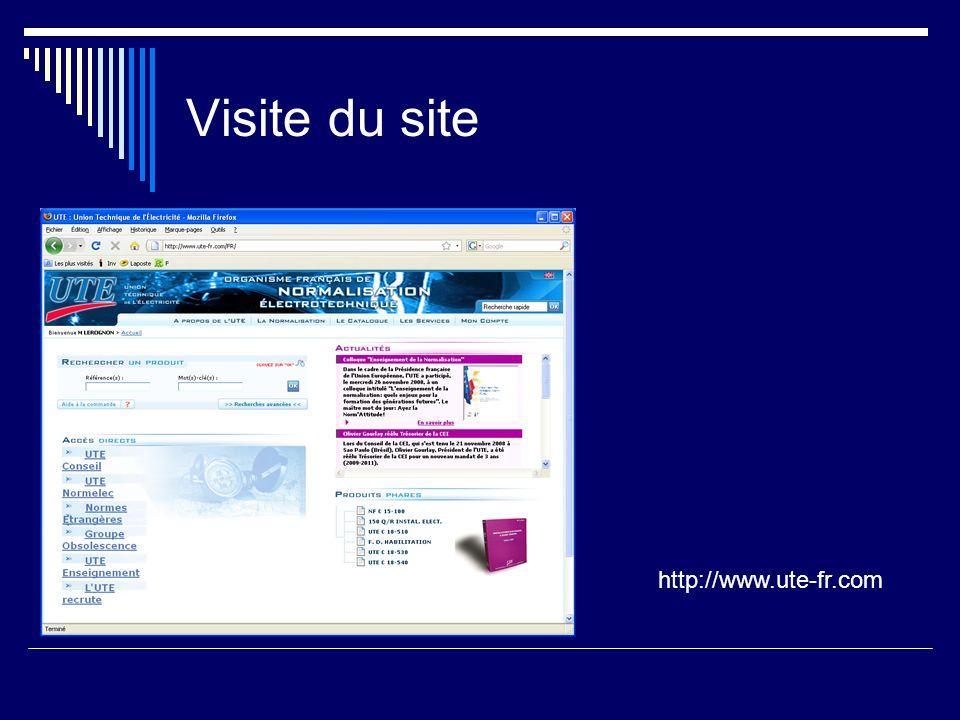 http://www.ute-fr.com Visite du site