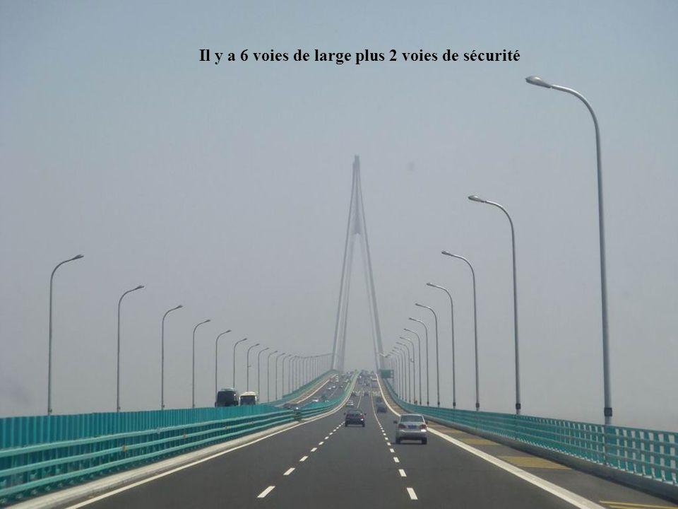 Il y a 6 voies de large plus 2 voies de sécurité