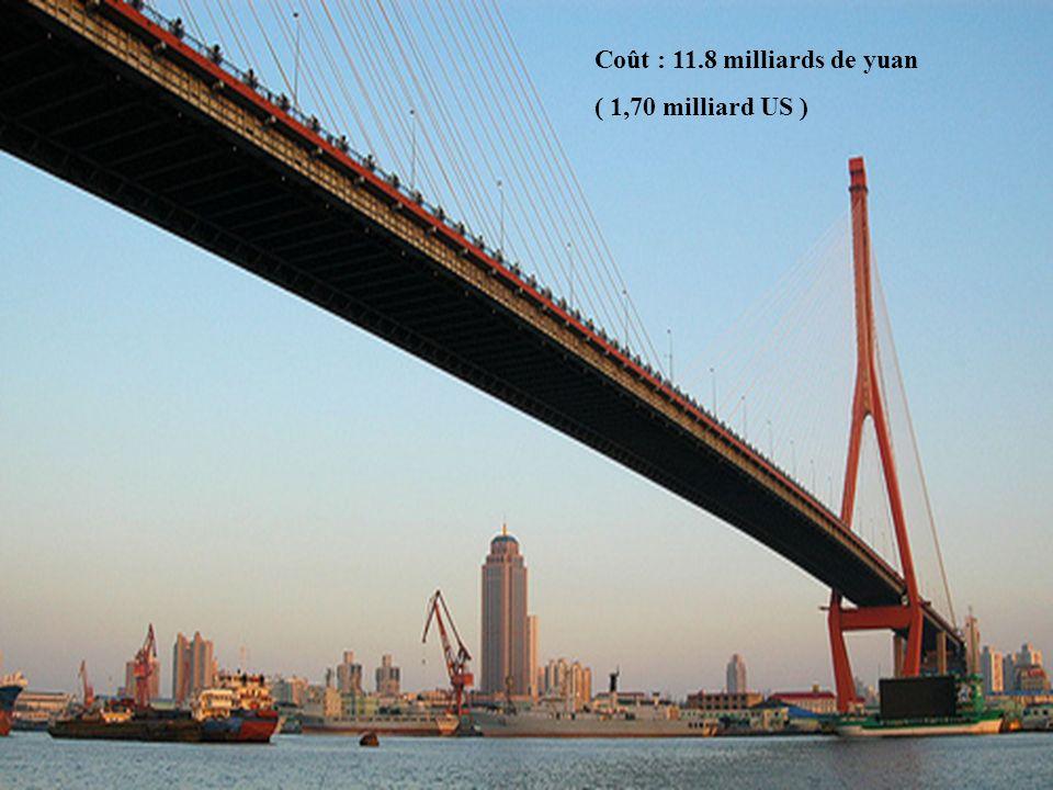 6 Coût : 11.8 milliards de yuan ( 1,70 milliard US )