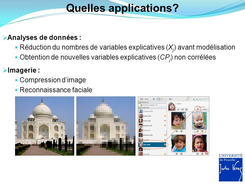 Exemple concret Réalisation dune ACP normée dans un espace à 12 dimensions : Décomposition de la variance sur les 12 composantes principales Combien daxes doit-on conserver?