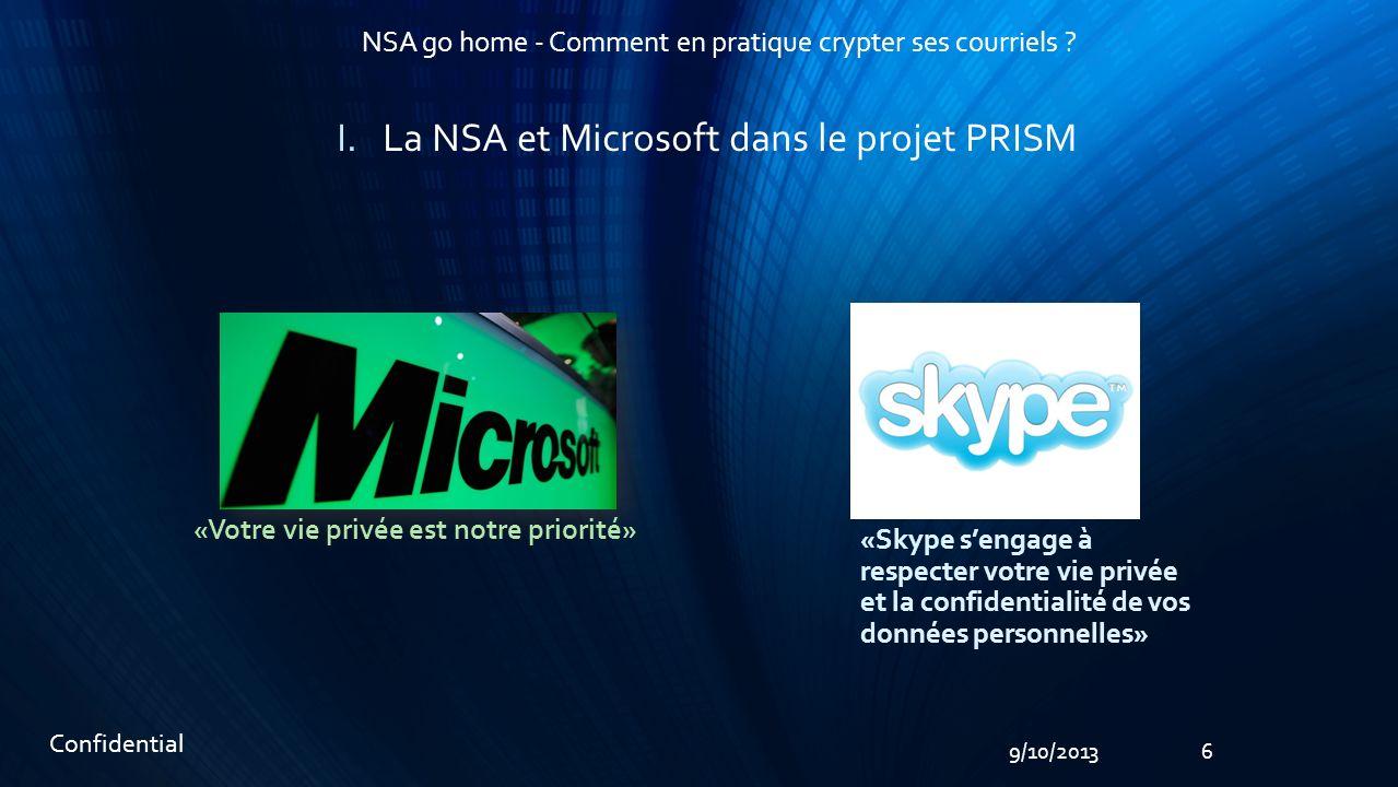 79/10/2013 NSA go home - Comment en pratique crypter ses courriels .