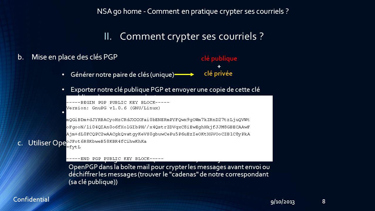 99/10/2013 Confidential NSA go home - Comment en pratique crypter ses courriels .