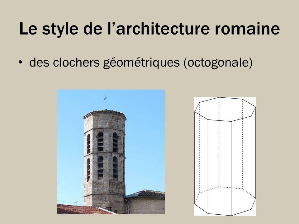 Le style de larchitecture romaine des clochers géométriques (octogonale)